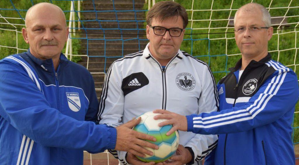 Fredi Rohrbacher (SCW), Stefan Marx (SVPM), Ralph Broschardt (SC07)