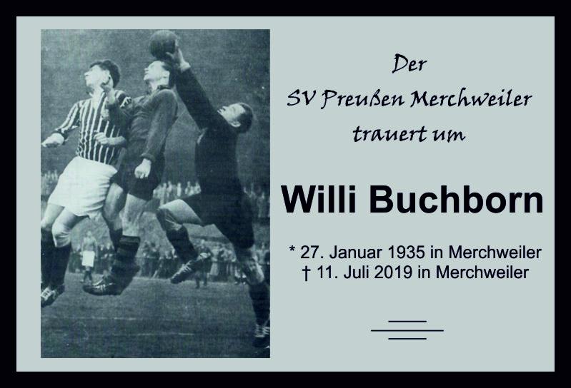 Die Preußen-Familie trauert um Willi Buchborn