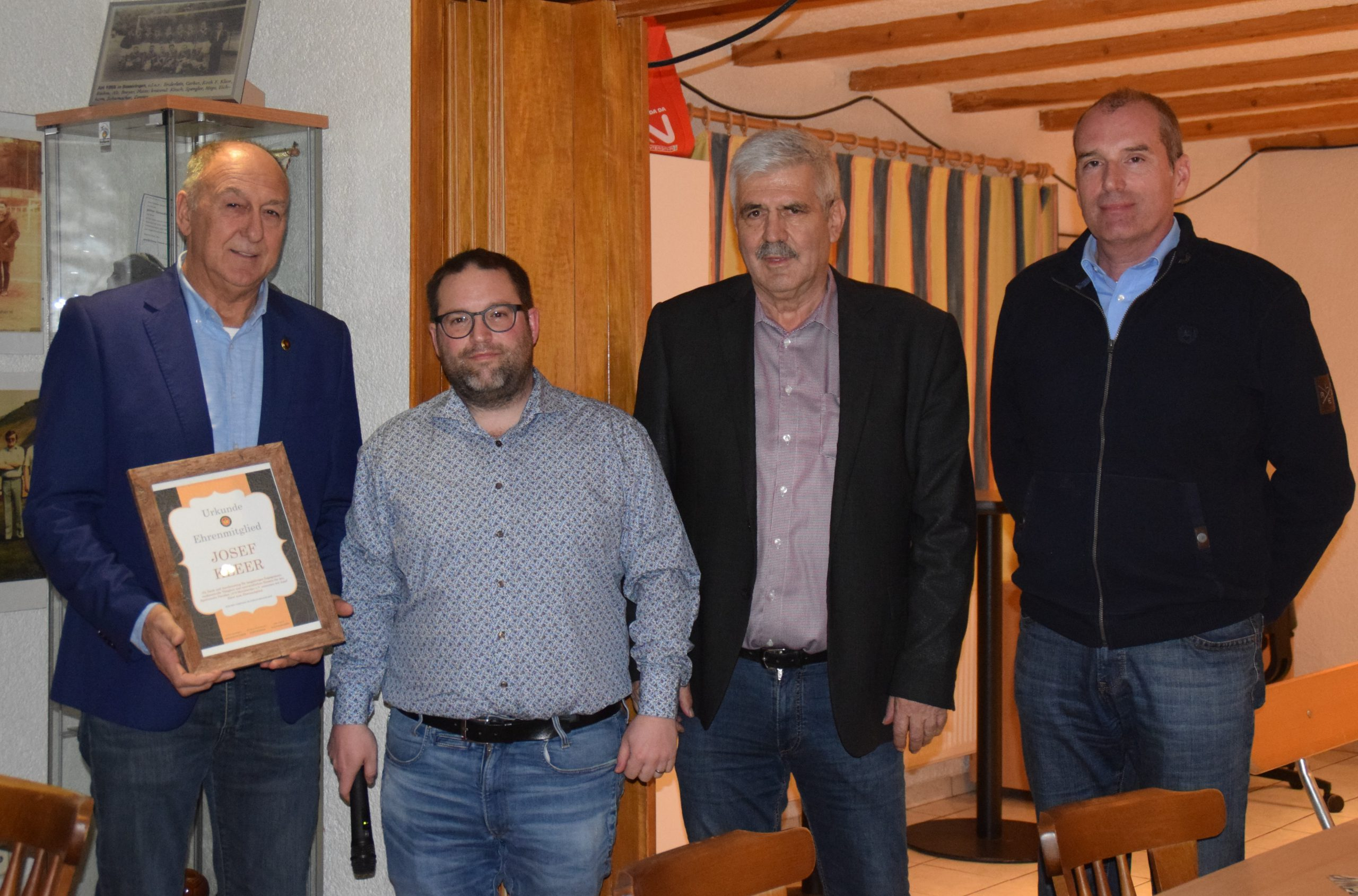 Josef Kleer zum Ehrenmitglied ernannt